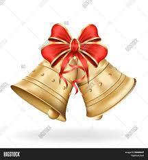 White Bow Christmas Decorations by Christmas Bells Red Bow On White Vector U0026 Photo Bigstock