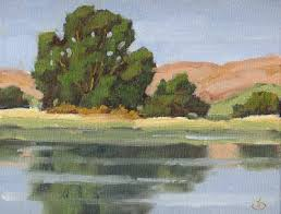 Impressionist Landscape Painting by Tom Brown Fine Art Impressionist Landscape Oil Painting By Tom Brown