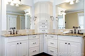 Bathroom With White Cabinets Black Countertops Luxury Bathroom - White cabinets master bathroom