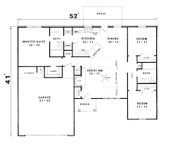 Free Ranch House Plans 100 Floor Plans Ranch Ranch Style House Plan 3 Beds 2 00