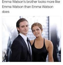 emma watson looks like emma watson s brother looks more like emma watson than emma watson