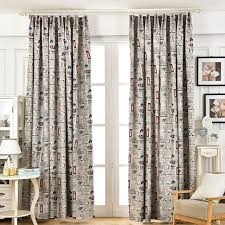 Patterned Blackout Curtains American Style Retro Blackout Curtains Window Curtain Living Room