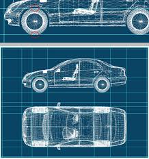 make a blueprint create a realistic blueprint image from a 3d object