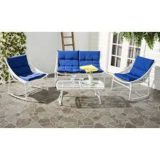 Outdoor Furniture Mn by Amazon Com Safavieh 4 Piece Outdoor Collection Berkane Patio Set