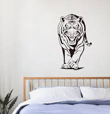 ✅Cool Tiger Vinyl Decal Adhesive Removable Wall Stickers For Kids