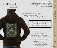 awen celtic artpatch mens hooded sweatshirt by jen delyth