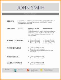 resume templates for internships 8 internship resume template essay checklist