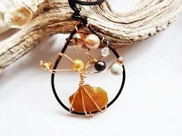 sea glass tree of pendant ornament jewelry journal
