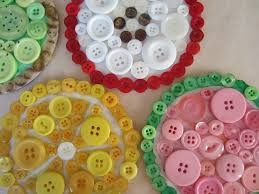 summer button coasters busted button