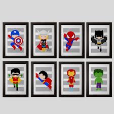 Wall Art For Kids Room by Pick 6 Superhero Wall Prints Super Hero Wall Art Boys Room