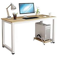 A Computer Desk White Computer Desk With Raised Edge Silver Frame