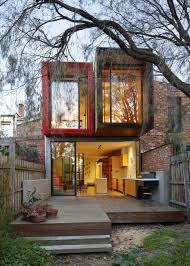 exteriors adorable modern house with two stories and red brick