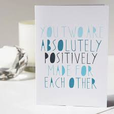 congratulations on engagement card positively made for each other card engagement card