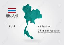 Population World Map by Thailand On The World Map With A Pixel Pattern Royalty Free