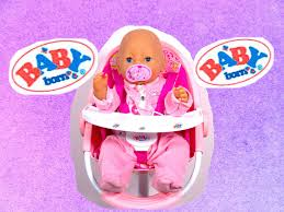 High Chair Toy Baby Born Pink High Chair Baby Doll Furniture Baby Born Feeding