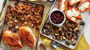 thanksgiving on two sheet pans food network