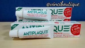 Pasta Gigi Antiplaque jual pasta gigi antiplaque 75 gram banded 25 gram vinci boutique