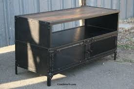Midcentury Modern Tv Stand - vintage industrial tv stand reclaimed wood steel mid century