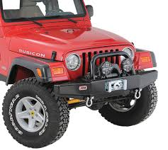 jeep bumper arb 3450150 quadratec edition front stubby bull bar bumper for 87