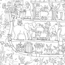 noah ark coloring page beautiful bespoke really giant colouring in posters
