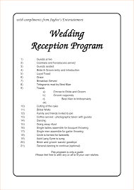 wedding program layouts 11 wedding agenda templateagenda template sle agenda template