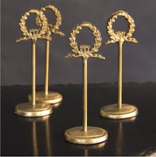 table number card holders laurel wreath table number or place card holders callie weddings