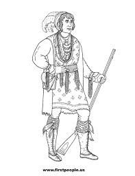 osceola seminole clipart to color in american history