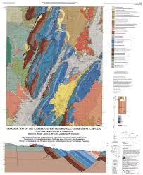 California Arizona Map by Geologic Map Of The Iceberg Canyon Quadrangle Clark County