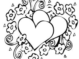 12 coloring pages hearts flowers hearts flowers colouring
