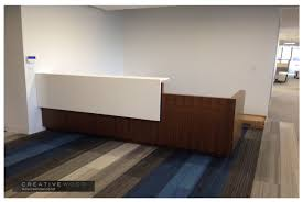 Plywood Reception Desk Reception Creative Wood