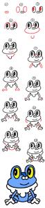 how to draw froakie from pokemon art for kids hub