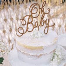 gender reveal cake topper rustic cake topper oh baby cake topper baby shower cake topper