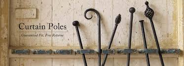 Chunky Wooden Curtain Poles Wrought Iron Curtain Poles Made To Order