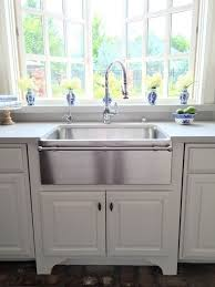 stainless steel apron sink eleven gables kitchen as featured in design oklahoma magazine