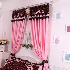 Ruffled Pink Curtains Cute Window Curtain For Kid Room 392 Latest Decoration Ideas