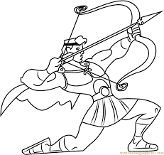 hercules coloring page hercules with bow and arrow coloring page free hercules coloring