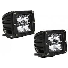 rigid industries led driving lights industries 20211 dually d series 3 inch cube led driving fog light