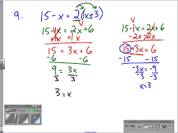 solving equations with variables on both sides part 2 worksheet