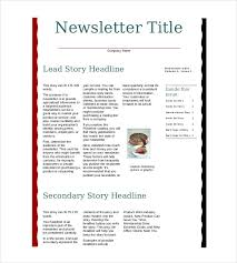 8 business newsletter templates u2013 free sample example format