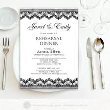 rehearsal dinner invite rehearsal dinner invitation printable black lace weddings
