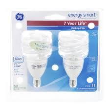 ge energy smart cfl light bulbs 13 watt 60w equivalent ge energy smart ceiling fan 13 watt soft white instant on candelabra