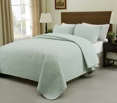 What Is Coverlet In Bedding Allyson 3 Piece Quilted Coverlet Bedspread Set Aqua Green Color