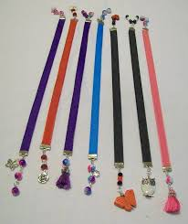 ribbon bookmarks 7 handmade ribbon bookmarks with and charms in assorted