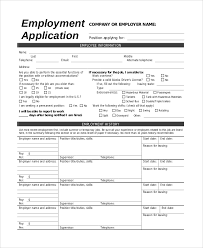 sample printable job application example restaurant job