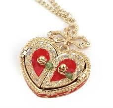 locket pendant necklace images Cheap glass heart locket necklace find glass heart locket jpg