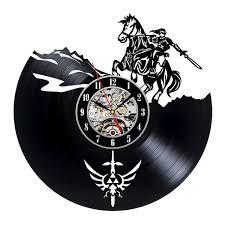 Small Bathroom Clock - decorative vinyl record wall clock zelda design dropship buy