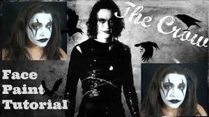 the crow inspired face paint tutorial noblandmakeup youtube