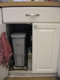 Kitchen Garbage Can Cabinet Under Sink Trash Can Best Sink Decoration