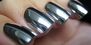 mirrored nail polish vanity decoration