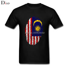 Maylasia Flag Malaysia Flag Fingerprint T Shirt Men Man U0027s Family Team Custom